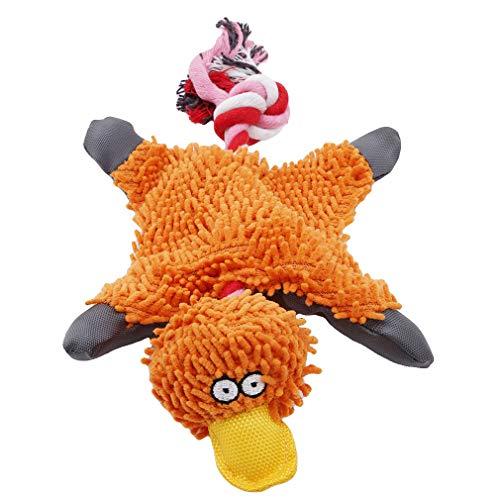VWH Haustier Hund Plüschtier Niedlichen Ente Form Katze und Hund Spielzeug (Orange) -