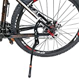Fahrradständer, Joymixx Einstellbarer Aluminiunlegierung Seitenständer Universal Fahrrad Ständer für 24-29 Zoll, Höhenverstellbar Hinterbauständer für Mountainbike, Rennrad, Faltrad, Fahrradzubehör, JM03008