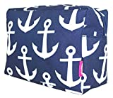 Ngil Cosmetic Pouch, Nautical Anchor Print (Navy Blue)