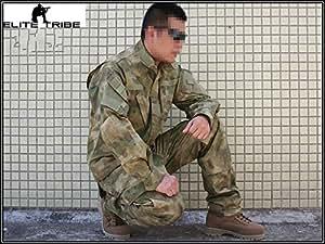 Homme Airsoft Tenues de Combat Chasse Unifom Militaire Tactique AT/FG (S)