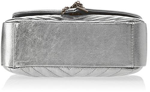 Chicca Borse Damen 1626 Henkeltasche, 24x15x10 Cm Argento (argento)