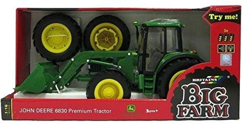 TOMY Britains - John Deere 6830 Premium Traktor mit Frontlader - Kinder Traktor mit Licht- und Soundeffekt - für Kinder ab 3 Jahre zum Spielen und Sammeln