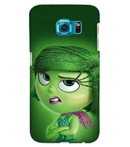 Printvisa Scouled Faced Girl Back Case Cover for Samsung Galaxy S6::Samsung Galaxy S6 G920