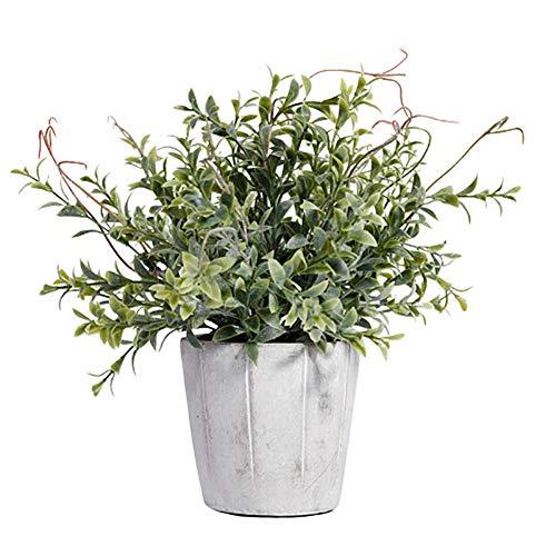 Pianta artificiale in vaso vaso bianco grigio piante sintetiche in plastica decorazione da tavolo piante decorative piante da esterno in vaso decorazione di nozze decorazioni pasquali green 1