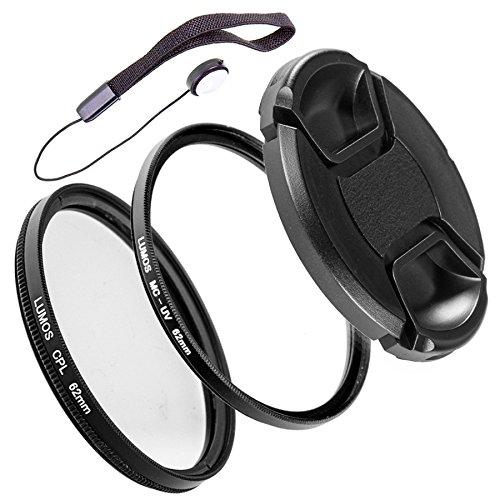 LUMOS Filter-Set 62mm | CPL Polfilter MC UV Schutz-Filter Objektivdeckel & Halter | genau passend auch zu Ihrem Kamera Objektiv mit 62 mm Filtergewinde