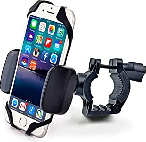 CC Accessories - Best Cell Phone Bike & Motorcycle Mount Holder - For iPhone (5, 5s, 6s, 6 plus), Samsung Galaxy Note or any Smartphone & GPS - Universal Handlebar Cradle for Mountain & Road Bicycle