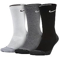 Nike U NK EVRY MAX Cush Crew 3PR - Calcetines, Unisex Adulto