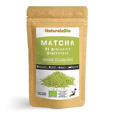 Thé Matcha Bio Japonais de Cuisine [ Qualité Culinaire ] 50 gr | Thé Vert Matcha en Poudre 100% Naturel | Matcha Green Tea Produit au Japon Uji, Kyoto| Pour la Patisseries, Cookies et dans le Lait
