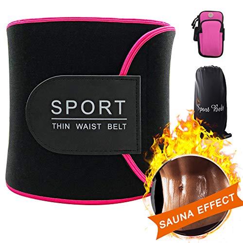 baozun Bauchweggürtel Fitnessgürtel Fitness Gürtel Schwitzgürtel zur Fettverbrennung Verstellbarer Neopren Sauna Bauchweggürtel Gewichthebergürtel
