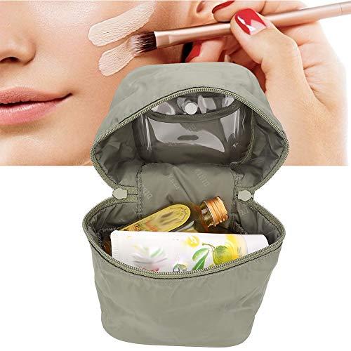 Borsa per trucco portatile, Borsa da viaggio per cosmetici Borsa per donna multifunzione Custodia per cosmetici Custodia per cosmetici con divisori regolabili per negozio Cosmetici per(verde)