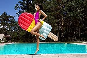 Luftmatratze Eis am Stiel 180cm Schwimmliege Badeinsel Wasserliege #3511