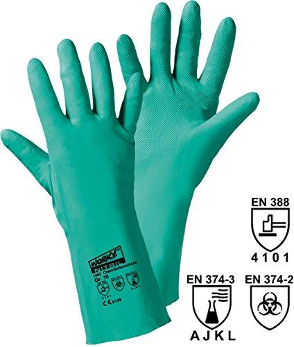 Gants de protection Leipold + Döhle 1463 Nitrile EN 388 + EN 374 Taille 9 (L)