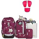 Ergobag Pack FeenzauBär Special Edition Schulrucksack-Set 6tlg + Seitentaschen ZIP-Set Pink