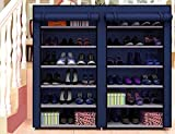 #7: Aventure Multipurpose Modern 6 Layer 12 Grid Metal Shoe Rack Stand Holds With 4 Layers Foldable Storage Rack (Grey) (4 Layer)