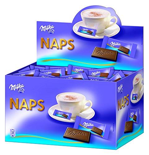 Milka Naps Alpenmilch/Zartschmelzende Mini-Schokoladentäfelchen aus feiner...
