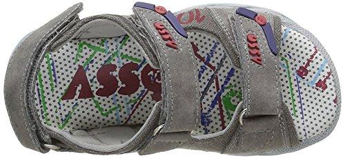 ASSO 41601, Sandales Bout ouvert garçon Gris (Ash)
