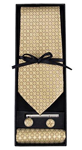 DiBanGu Men's Necktie Solid Silk...