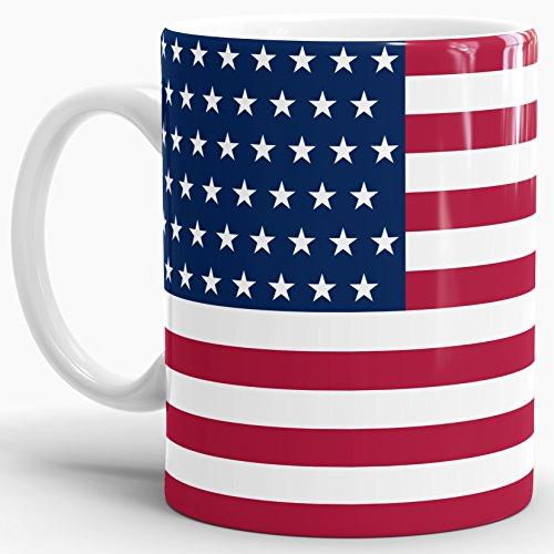 "USA-Tasse ""Stars & Stripes"" Flagge - Kaffeetasse / Mug / Cup - Qualität Made in Germany"
