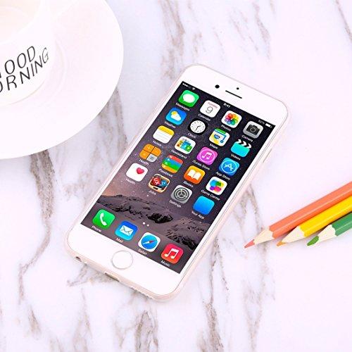 MXNET Fall für iPhone 6 u. 6s Carbon-Faser-Beschaffenheit PP schützender rückseitiger Abdeckungs-Fall ,Iphone 6/6s Case ( Color : Rose gold ) Transparent
