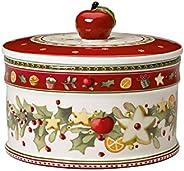 Villeroy & Boch Winter Bakery Delight Scatola Pasticceria, Porcellana, Bianco/Rosso, M