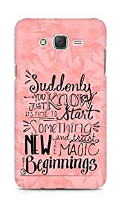 AMEZ start something new and the magic begins Back Cover For Samsung Galaxy J7
