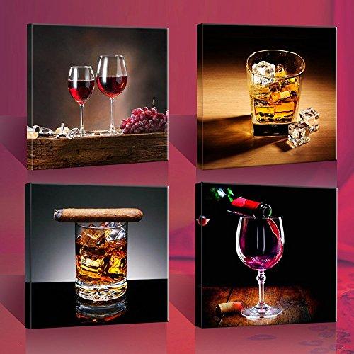 quadro-su-tela-vino-whisky-4-parti-30x30cm-i-quadri-sono-montati-su-telai-di-vero-legno-stampa-artis