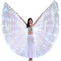 Dance Fairy Danse du Ventre LED Isis Ailes avec Bâtons / Rods