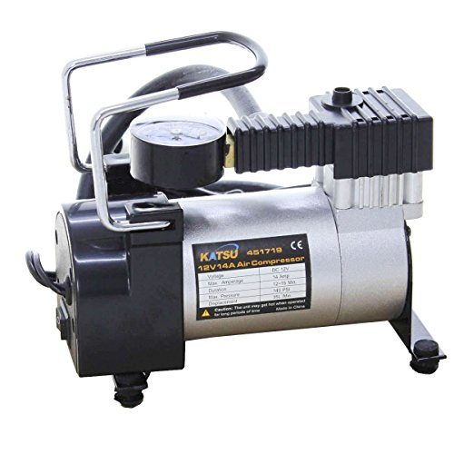 Katsu ® 451719 – Inflador de neumáticos de Coche, compresor de Aire, 12V Gran relación Precio-Calidad