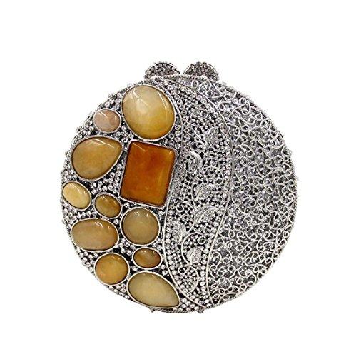 Frauen-Luxus-Kristall-Diamant-Abendtasche Diamant-Bankett-Paket A