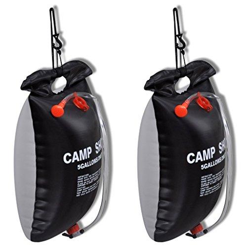 vidaXL 2x Outdoor Campingdusche Solardusche Brause Solar Camping Dusche Gartendusche