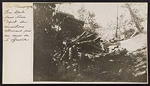 POSTER En Champagne. Mont sans Nom, dépôt munitions allemand pris cours l'offensive.