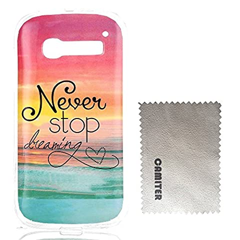 Coque Alcatel One Touch Pop C5, Camiter conception du lever du soleil TPU Coque Housse protection Étui Silicone pour Alcatel One Touch Pop C5 + chiffon de nettoyage