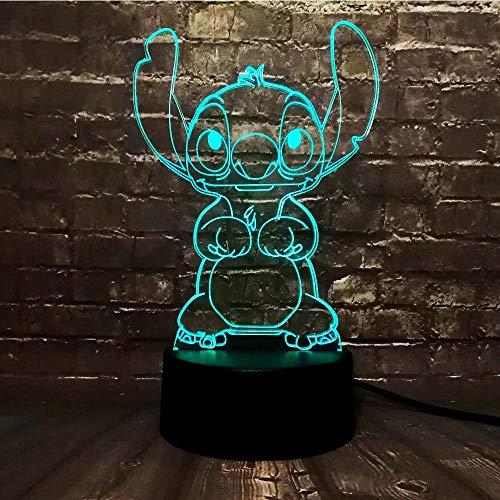 GJXYED Post 3D Nachtlicht Led-Leuchten Nicole Mouse Tinker Bell 16 Farbe Ankleidezimmer Dekoration Baby Geschenk, 3D Illusion Nachtlicht Kinderzimmer Nachttischlampe Led Tischleuchte Urlaubspaar Gesc -