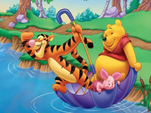 Von Canvas35Kinder Schlafzimmer Wand Kinderzimmer Cartoon Tigger Winnie the Pooh (Amazing Qualität Dick Kiefer) 61x 50,8cm Umwerfende Galerie Gerahmter Kunstdruck Bild Poster, aufhängfertig, Leinwand, mehrfarbige,