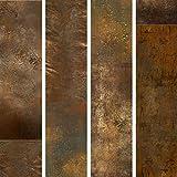 murando - Papier peint intissé - PURO - Panneau décoratif - Papier peint - Photo sur le mur XXL - 10m Abstrait Texture Or f-A-0541-j-a