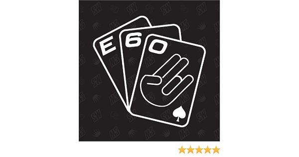 Speedwerk Motorwear Spielkarten E60 Sticker Kompatibel Mit Bmw Auto