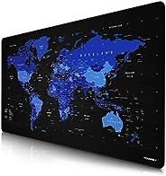 CSL - Übergröße DEUTSCHES Layout Mauspad 1200x600mm Weltkarte - XXXL Mousepad groß mit Motiv - Tischunterlage
