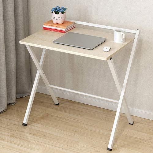 Alppq Computertisch Klapptisch Notebook-Büro-Tischchen Arbeitszimmer für Studenten Persönlicher Klapptisch Kompakter Arbeitslesetisch für kleine Räume Platzsparender Bürotisch Hochleistungsklapptisch -