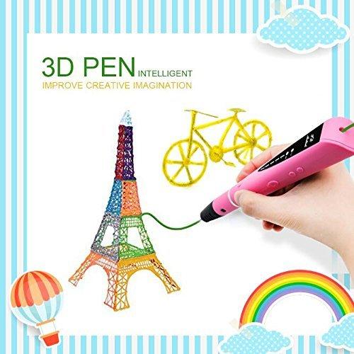 3D Stift Kinder, MODAR 3D Pen kompatibel mit 1,75 mm PLA/ABS Filament, 3D Sitft Set schönes Geschenk für Kinder, Potenzial von Kinder erschließen, umweltfreundlich und harmlos, Pink