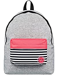 Roxy Sugar Baby Colorblock Mochila Escolar, 40 cm, Highrise Heather Gris