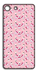 Happoz Pink Skulls Pattern Mobile Phone Back Panel Printed Fancy Pouches Accessories Z1648