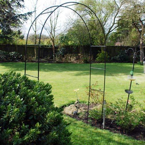Métal Acier Jardin Rose Arche 2.4m Grande Taille Piste Plantes Roses Runner Haricots
