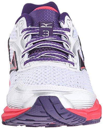 Mizuno Wave Legend 3 Maschenweite Laufschuh White/Purple/Pink