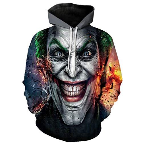QIONGQIONG Halloween-Kostüm Teufel Print Cap Elastic Sweater Festival Event Party Rolle Spielen 3D Schwarze Realität,XXXL (3d-spiel Halloween Spielen)