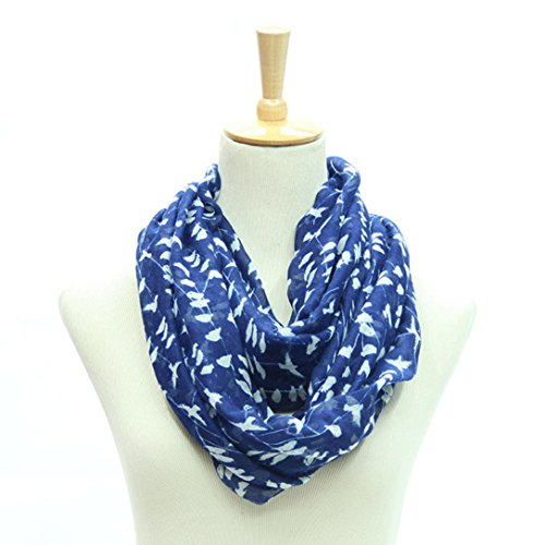 Transer ® Femelle Écharpes,Womens belle foulards garder chaude écharpe imprimé Animal Bleu