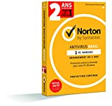 Norton Antivirus Basic 2018 - Antivirus 2 an pour PC, compatible avec Windows XP et versions supérieures - 1 appareil - Envoi postal
