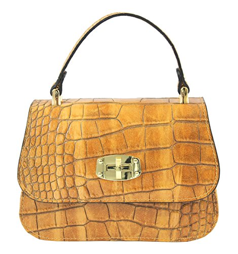 Sac CTM Femme élégante, Clutch Femmes, 20x15x8cm, en cuir véritable 100% Made in Italy
