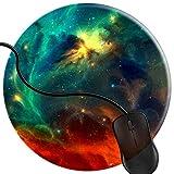 QCFW Tappetino Mouse Galaxy Space Universe Nebula Stars Cosmos Sci Fi Outer Space Tappetino per Mouse da Gioco per Giochi Ufficio Base in Gomma Antiscivolo 2T2997