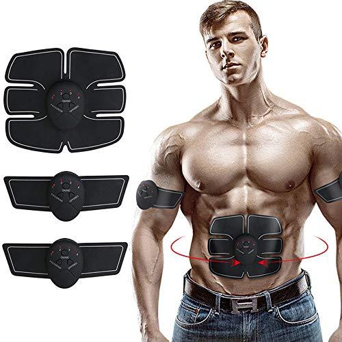Wisdomx Trainer EMS Muscolo Addominale Stimolatore Muscoli per la Tonificazione Muscolare Dispositivo per Allenamento da casa a Pagamento per Uomini e Donne