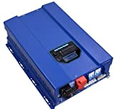 ZODORE HFV Serie 5000W Reiner Sinus Wechselrichter, Spannungswandler 24V / 230V, mit integriertem MPPT Solar-Laderegler 60A, Ladegeraet, Solar-Wechselrichter, off -Grid,LED&LCD.